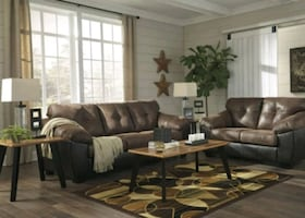 Brand New☆Gregale Coffee Color Living Room Set☆39$ Down Payment