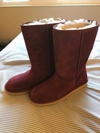 Koolaburra by UGG Womens Tall Boots Sz 8 Red Maroon Suede Winter New Milpitas, 95035