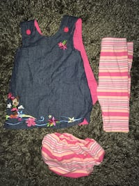 0-6m reversible Minnie Mouse Dress  Vancouver, V5N 1S7