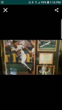 autographed baseball player photo with black frame Frederick, 21702
