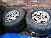Chevy wheels and tires 6 lug size 16 Amarillo, 79107