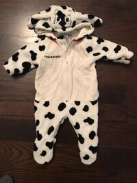 baby's white and black polka dot footie pajama Cambridge, N3E
