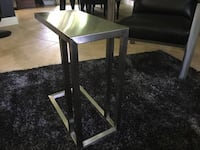 Brushed Stainless Steel Sofa/End Table Orlando