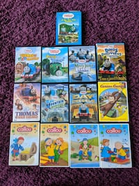 Thomas the train / Caillou DVD's Vaughan, L4J 9K2