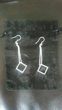 925 square drop earrings  Hartlepool, TS24 9NQ