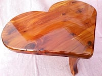 brown wooden heart  stool Sparrows Point, 21219