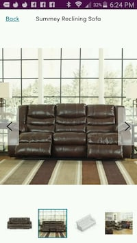 Leather recliner Brown brand new never used Minneapolis, 55428