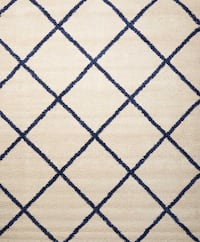 Brisbane 8'2X10' cream & blue Shang rug. Edmond, 73013
