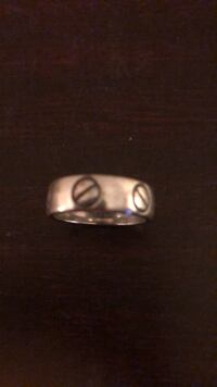 Silvertone Cartier style pinky ring New York, 10021
