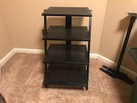 Metal media shelf with speaker stands Accokeek