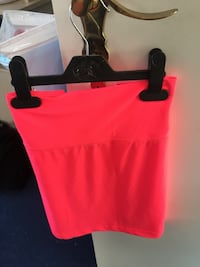 Neon Pinker Damen Rock