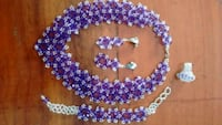 purple and white beaded necklace Chillum, 20912