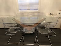 Dining room glass table and chairs Toronto, M2N 7K2