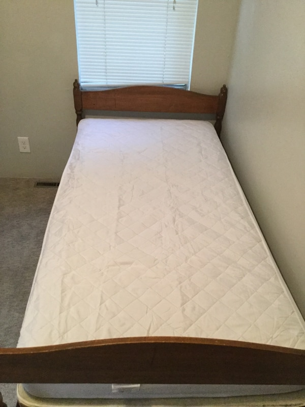 Used Twin bed, box spring, and frame for sale in Provo - letgo