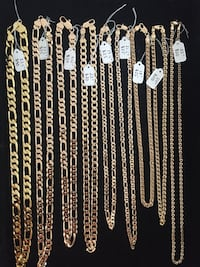 Gold plated chains for men/unisex