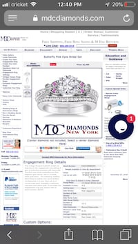 14k WHITE GOLD FLAWLESS BUTTERFLY RING SET size 7 Martinsburg, 25405