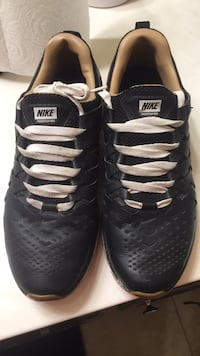 pair of black-and-white Nike basketball shoes Lubbock, 79423