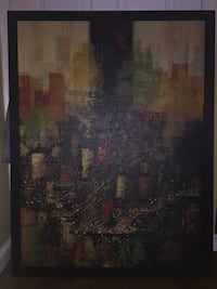 Beautiful Textured Canvas Painting New York, 10451