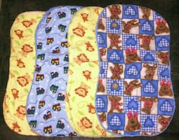 9 Burp Cloths - Gender neutral
