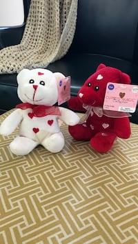 two white and pink bear plush toys Louisville, 40291