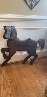 Wooden carves horse from Guatemala. I bought this while in the Peace Corps and now its time to let it go. 36 x 30 Alexandria, 22310