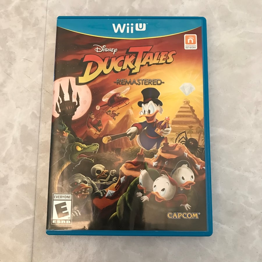 RARE Disney Ducktales Remastered nintendo wii u video game with case