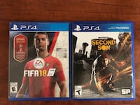 Second Son and Fifa 18  Mississauga, L5N 4K5