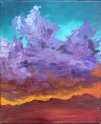 Purple and blue abstract painting San Francisco, 94118