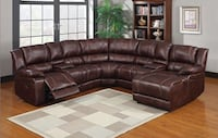 brown leather sectional sofa with throw pillows 551 km