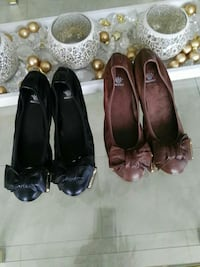 2 Paar soft leather Ballerina Flats in 38