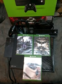 Xbox One console with controller and game cases Albuquerque, 87113