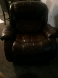 black leather padded rolling armchair Denver, 80234