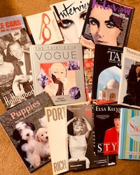 Lot of 15 Coffee Table Books/Magazines