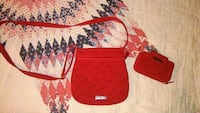 red suede 2-in-1 bag set