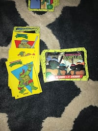 Complete set of 1989 Topps Teenage Mutant Ninja Turtles cards, with stickers and extra commons.