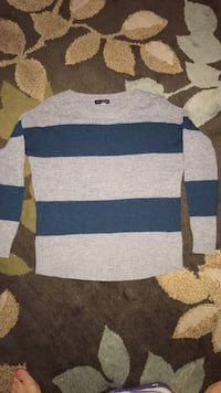 gray and black striped sweater Colbert, 99005
