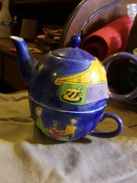 blue green and yellow teapot Toronto, M4C 2L8
