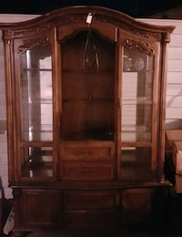 brown wooden cabinet with mirror Lake Country, V4V 2G6