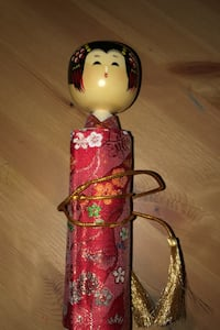 Japanese Kokeshi doll  you can write messages