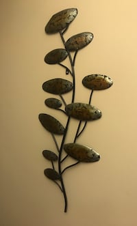 Black and brown floral wall decor. Metal Surrey, V3S 7C5