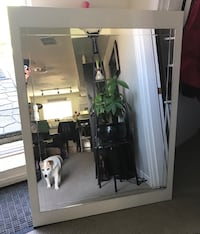 "High End White mirror 51""x40"""