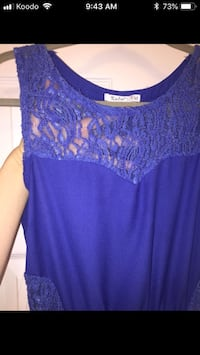 Women's blue lace sleeveless dress M London, N6H 4T6