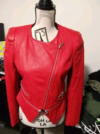 Red Faux leather jacket Toronto, M1P 4P5
