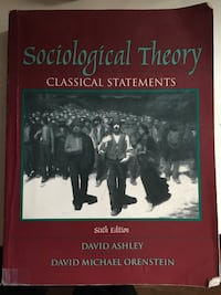 Sociological theory 6 edition  2274 mi
