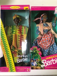 Ghanian And Jamaica Barbie Dolls New 欧文, 92620