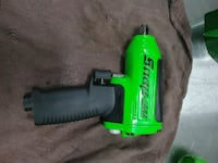 green and black Snap-on impact wrench