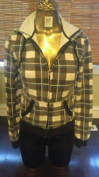 brown and black plaid button-up jacket Winnipeg, R2L 0X1