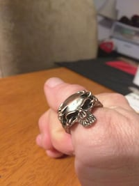 Men's silver skull ring Lake Stevens, 98258