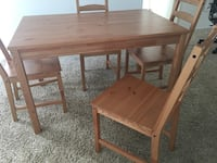 ikea table and 4  chair San Diego, 92126