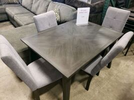 Gray dining table set